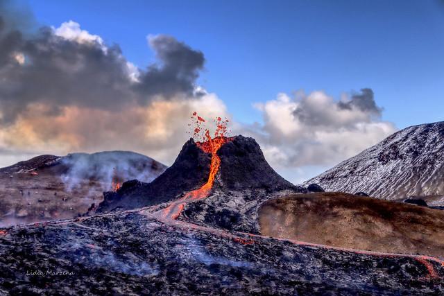 Fagradalsfjall volcano.