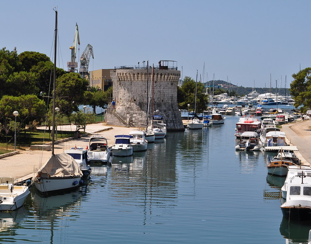 La Foša, Trogir, comitat de Split-Dalmatie, Croatie.