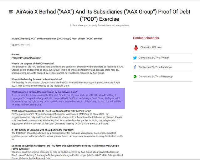 AirAsia X Proof of Debt pod exercise