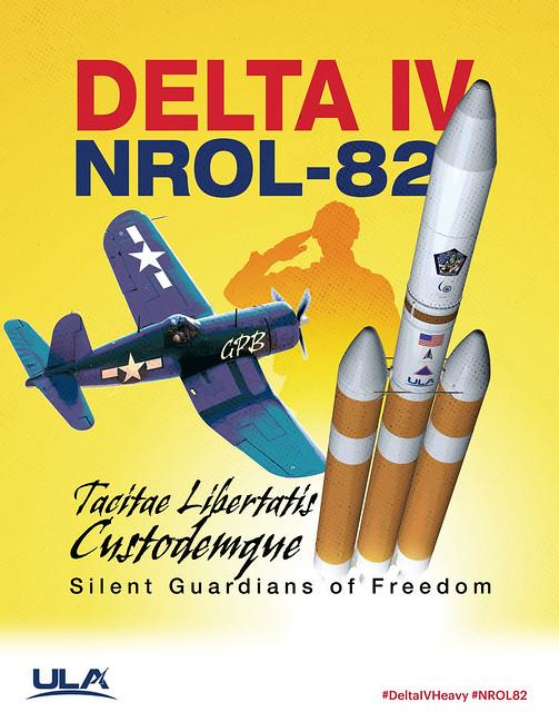 Delta IV Heavy NROL-82 Mission Artwork