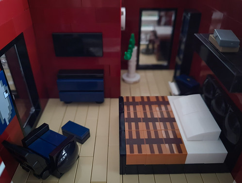 Candy-Striped House MOC. Bedroom.
