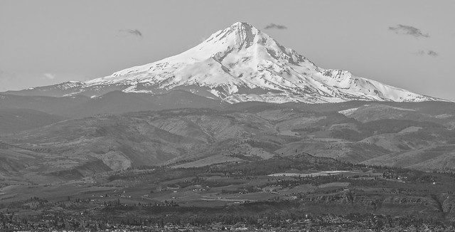 Mount Hood above The Dalles