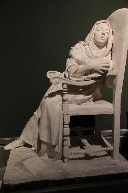 Luigi De Luca (Napoli, 28 novembre 1857 – Napoli, 1938) - Sogno claustrale (1890) - scultura in gesso - Museo e Real Bosco di Capodimonte