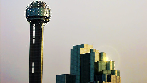 dallas dasllas texas usa america ciudad tower torre reunion concrete hormigon sunset atardecer