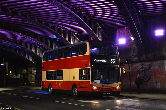 53 | Stagecoach London | 12345 (40 Year Selkent Anniversary Special) | County Hall