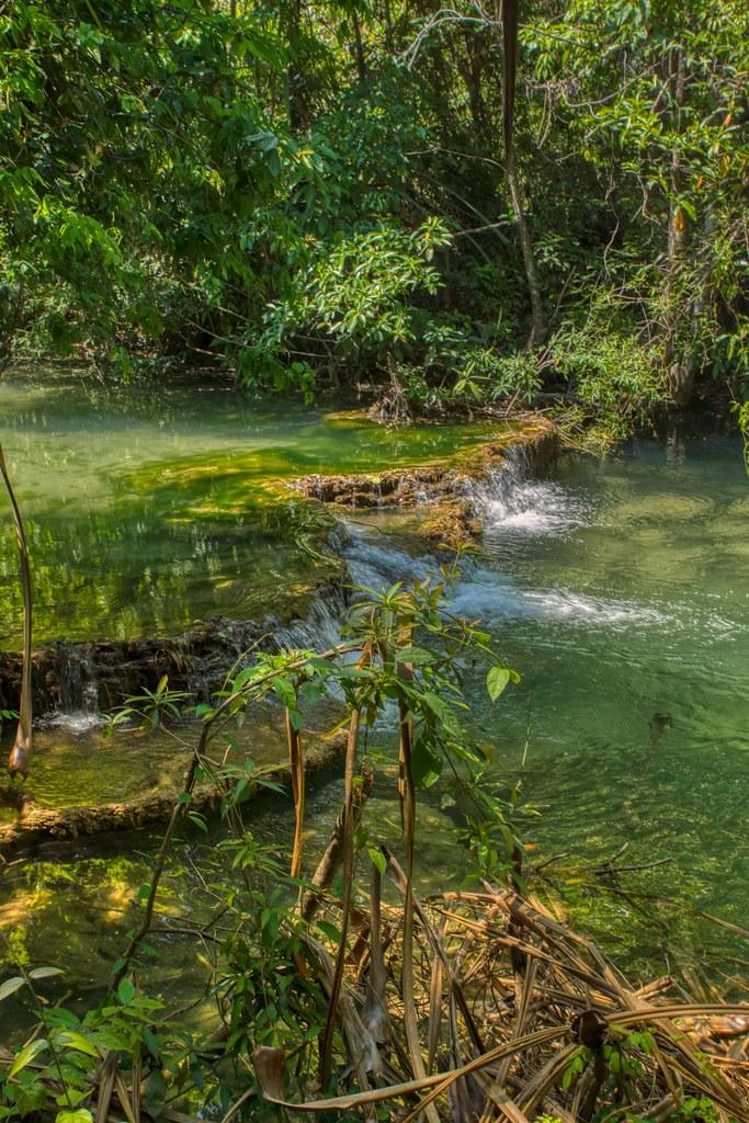 Small step of Huay Maekhamin waterfalls in Kanchanaburi, Thailand