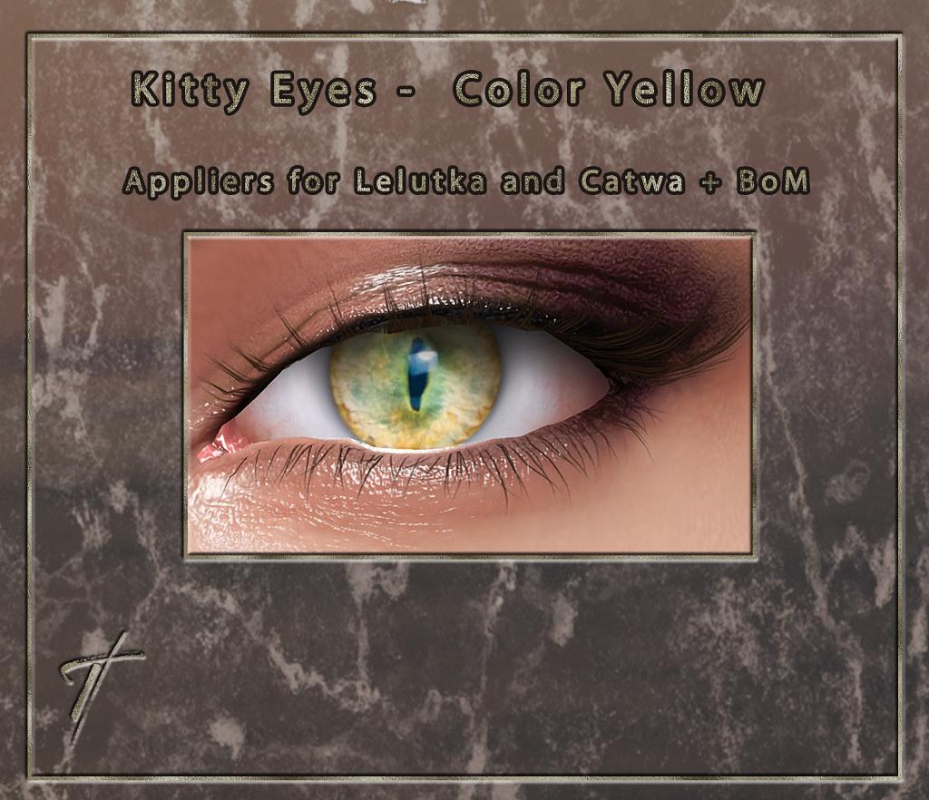 Tville - Kitty Eyes *yellow*