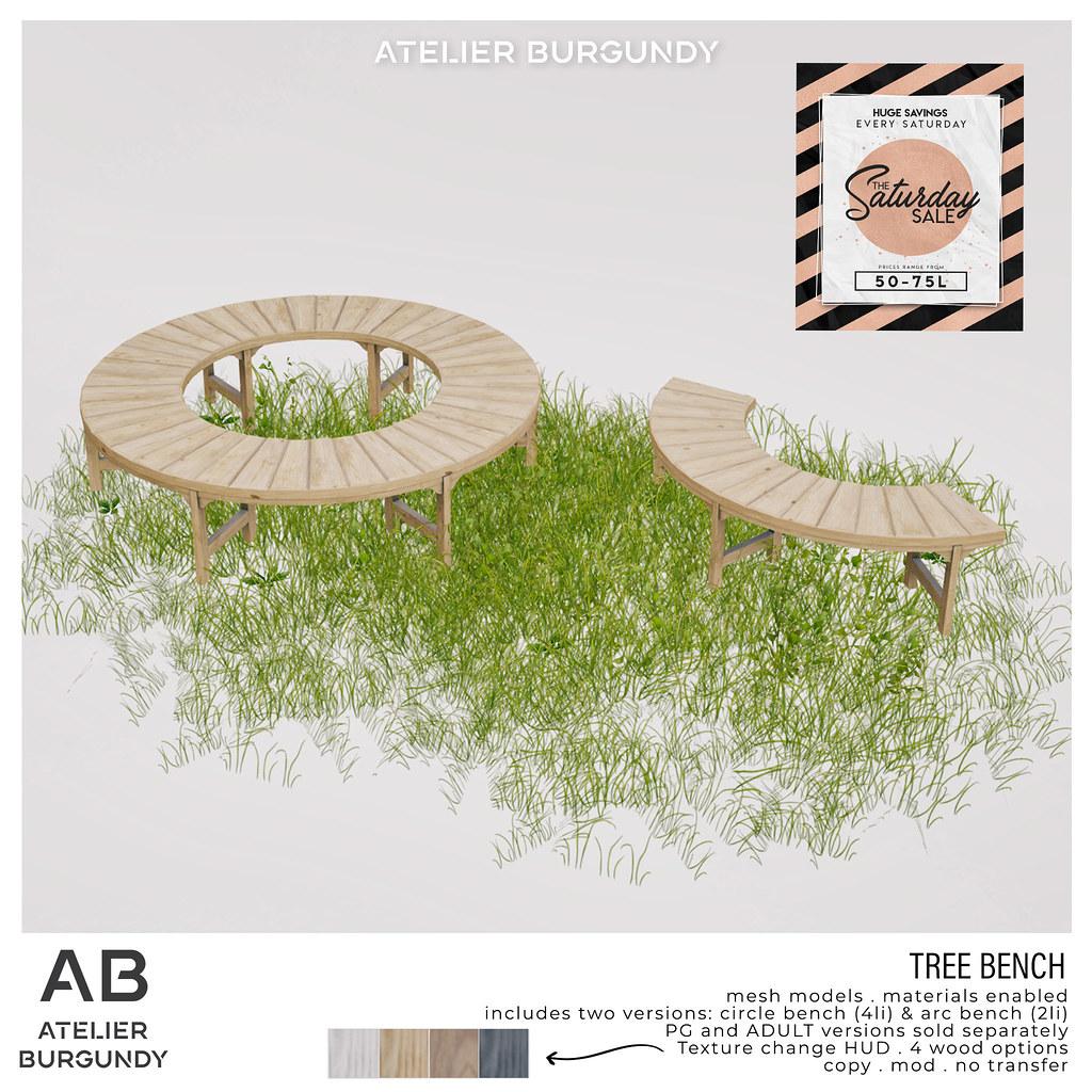 Atelier Burgundy . Tree Bench