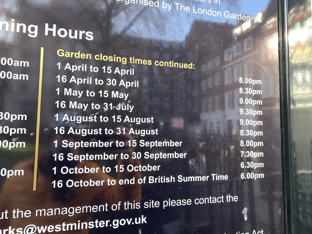 Complicated closing times
