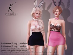 Kaithleen's Bunny Lace Dress & Ears Poster web