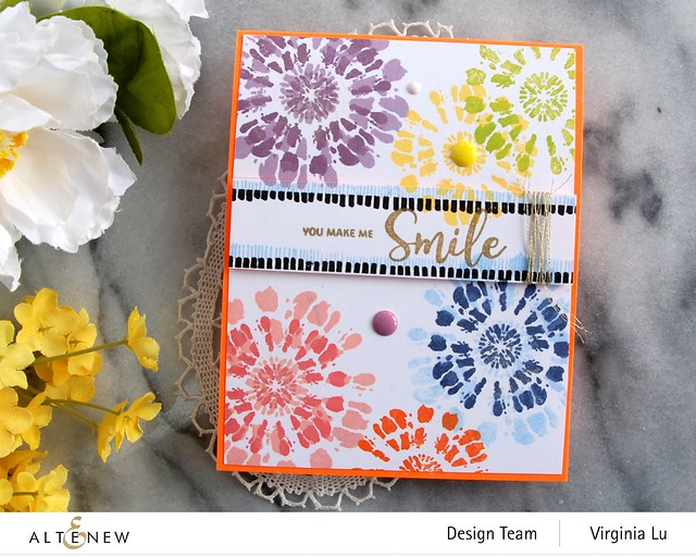 Altenew-Tie Dye Motifs Stamp Set-002