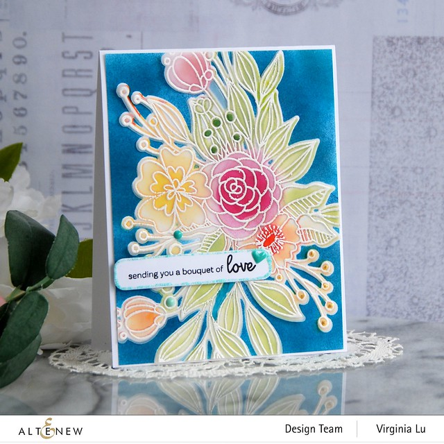 Altenew-Bouquet of Love Stamp & Die Bundle-001
