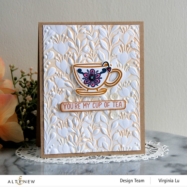 Altenew-Tea for Two Stamp & Die Bundle-Enchanting Vines 3D Embossing Folder-001