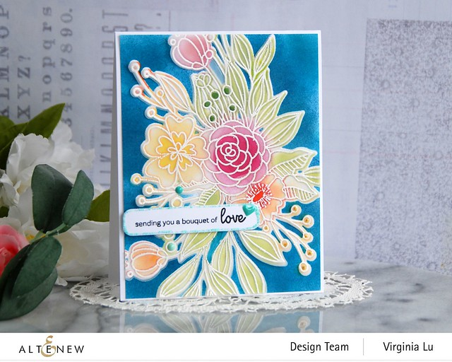 Altenew-Bouquet of Love Stamp & Die Bundle