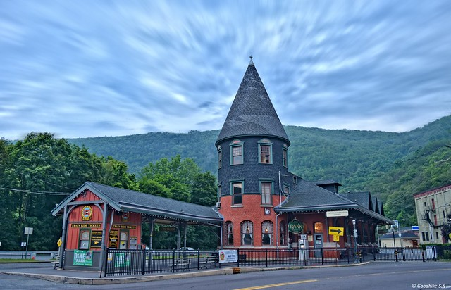 Train Station in Jim Thorpe, Pennsylvania