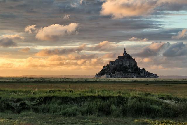 France - Mont Saint Michel at sunset (2) - Le Mont Saint Michel au couchant (2)