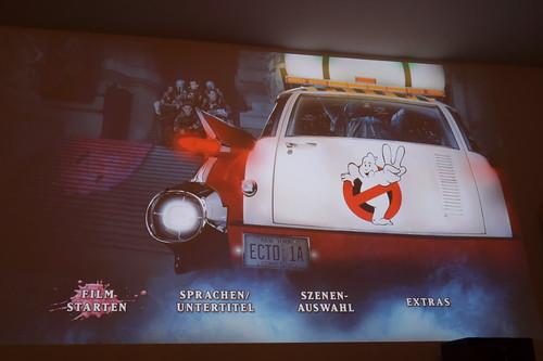 """Startbildschirm/Menü der Blu-Ray mit den 80er-Jahre Film """"Ghostbusters 2"""""""
