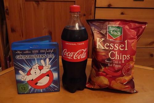 """Coca-Cola und Sweet Chili & Red Pepper Chips zu zum 80er-Jahre Film """"Ghostbusters 2"""""""