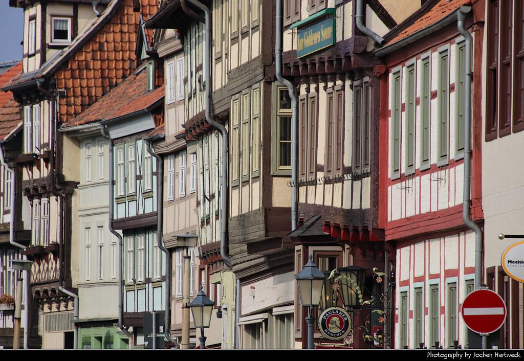 View along Steinweg, Quedlinburg, Germany