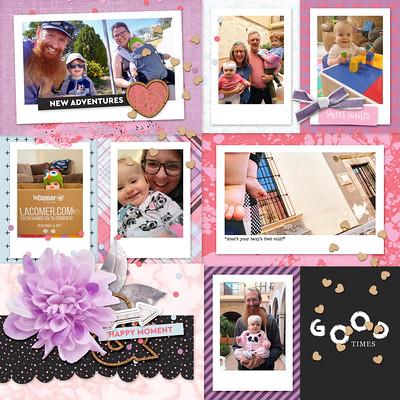 baby digital scrapbook layout