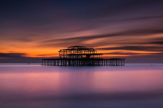 Brighton West Pier Sunset - Sussex