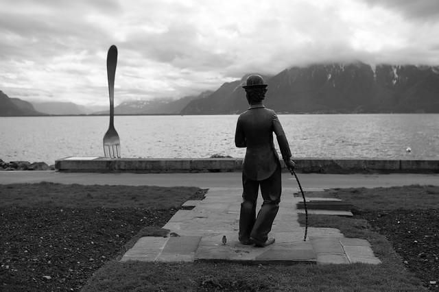 Charlie Chaplin, le moineau et la Fourchette