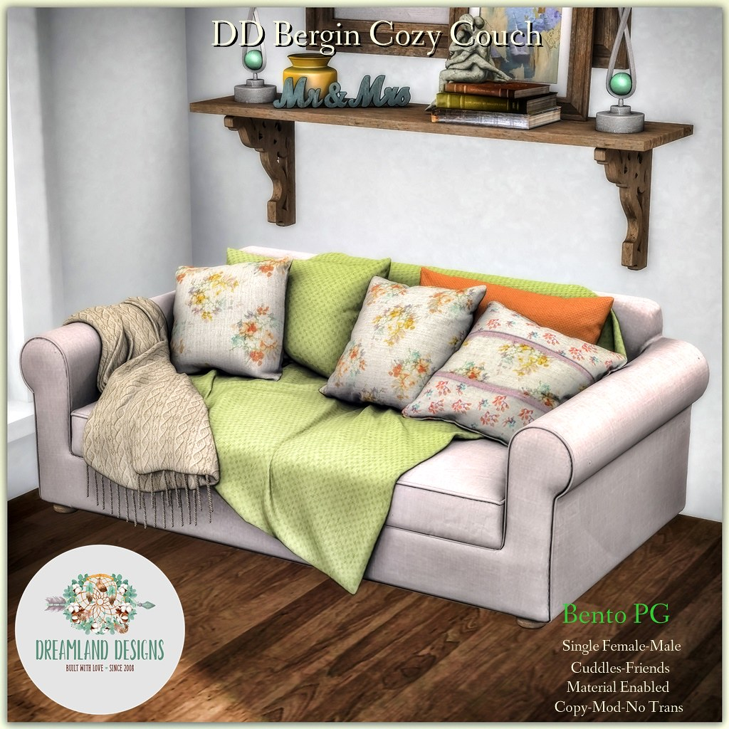 DD Bergin Cozy Couch-PG AD