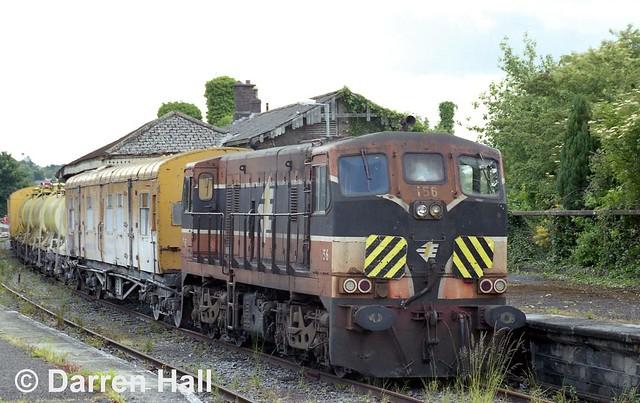 Irish Rail 156 in Mullingar.