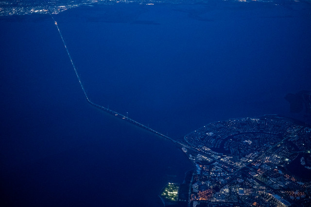 San Mateo Bridge from Above