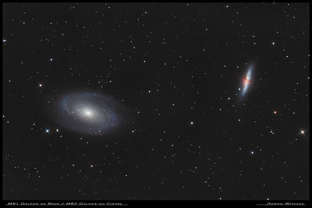 M81 Galaxie de Bode / M82 Galaxie du Cigare - Version finale