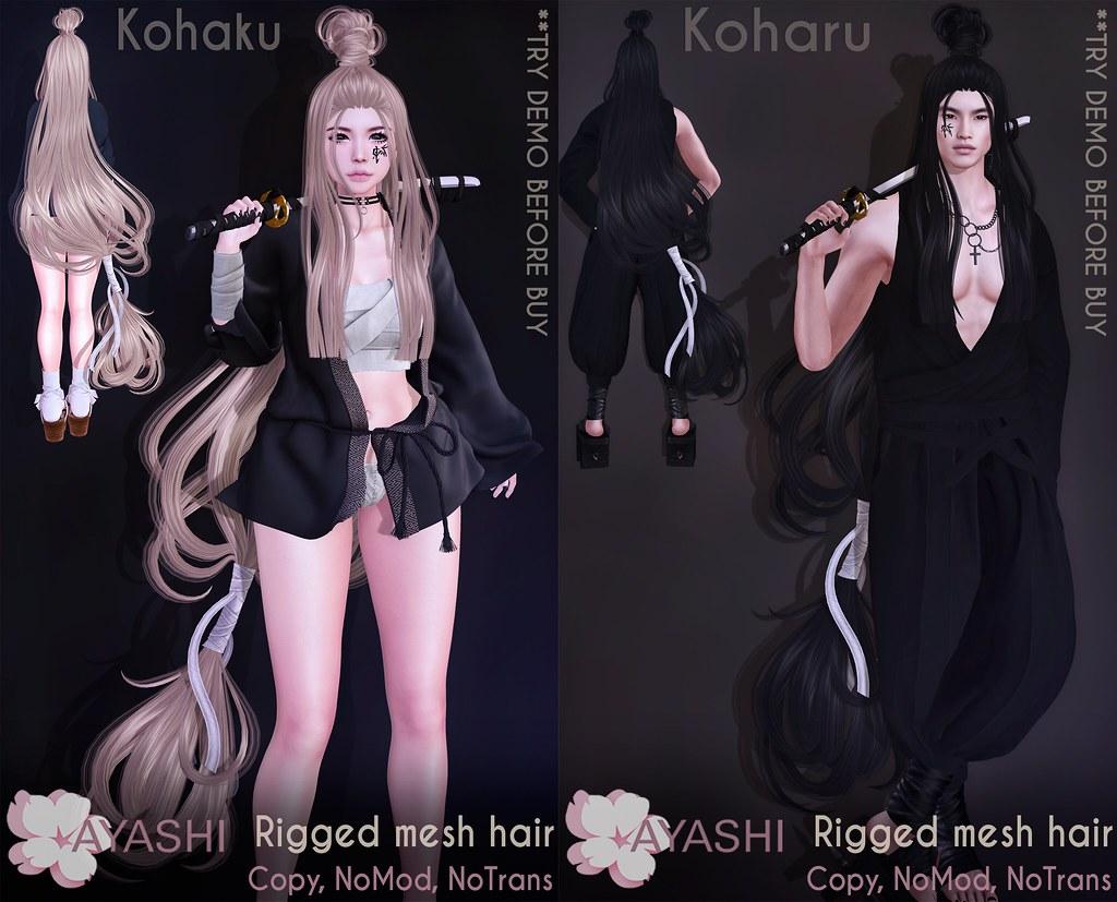 [^.^Ayashi^.^] Kohaku&Koharu hairs special for Neo-Japan