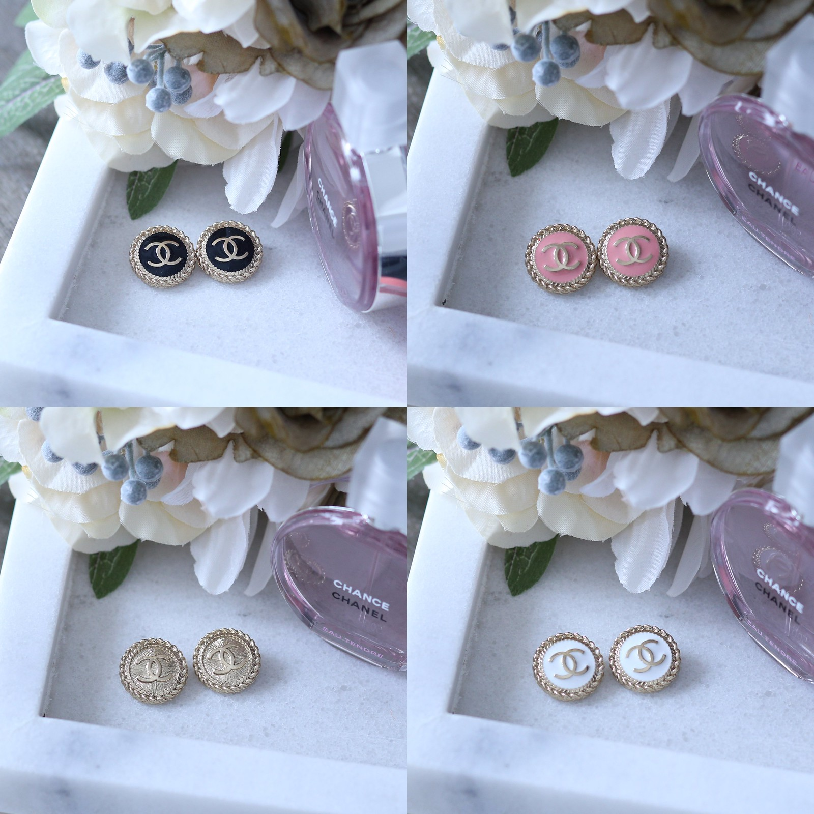 ChanelButtonEarrings_SydneysFashionDiary (2)