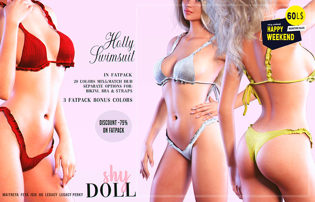 Holly Swimsuit only 60L$ for Happy Weekend sale