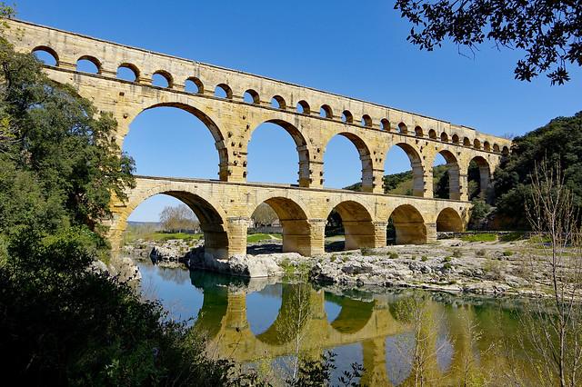 Du travail de romain : le Pont du Gard