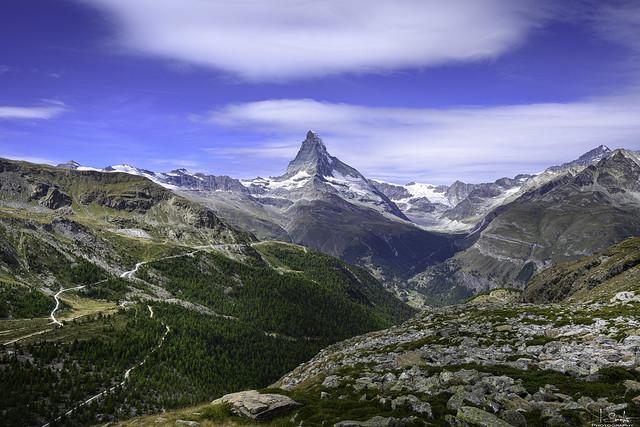 Hiking in Zermatt with Matterhorn view - Wallis - Switzerland