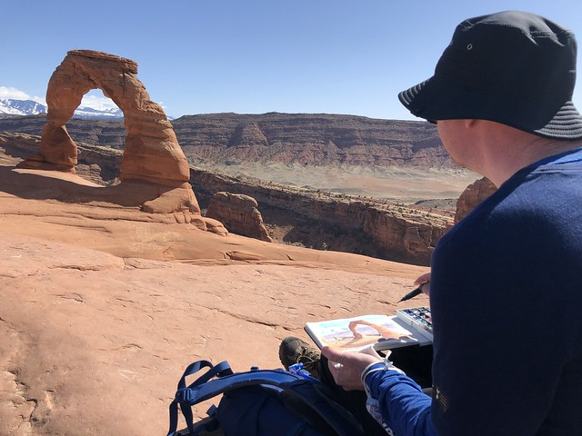 Sketching Delicate Arch