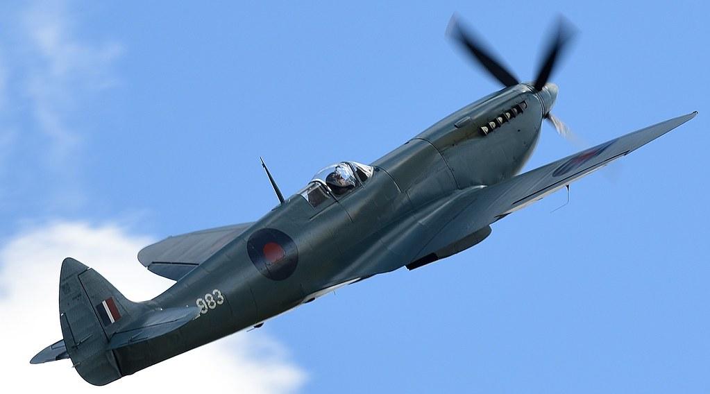 RAF Supermarine Spitfire G-PRXI PL983 Wartime Photo reconnaissance aircraft Blue livery