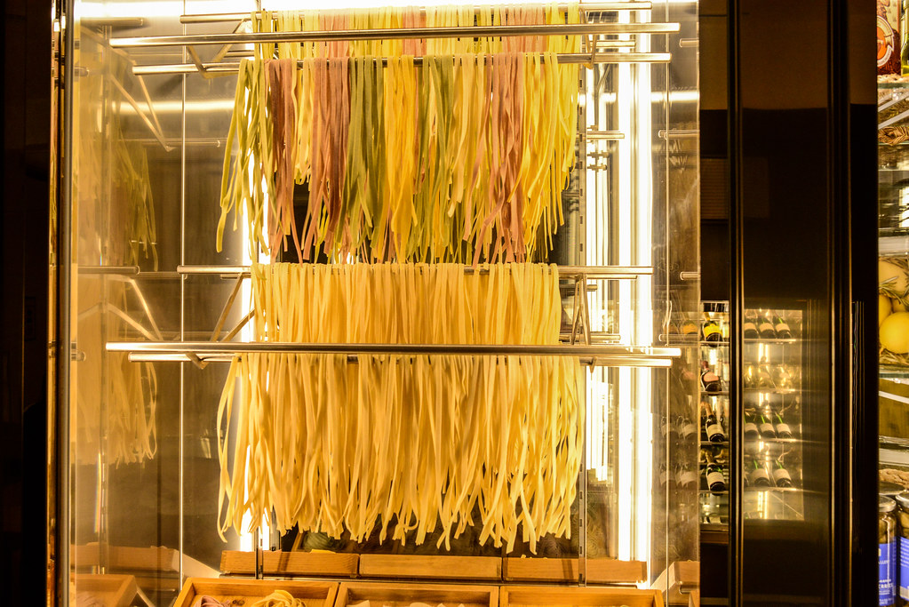 Topolino's Terrace hanging pasta