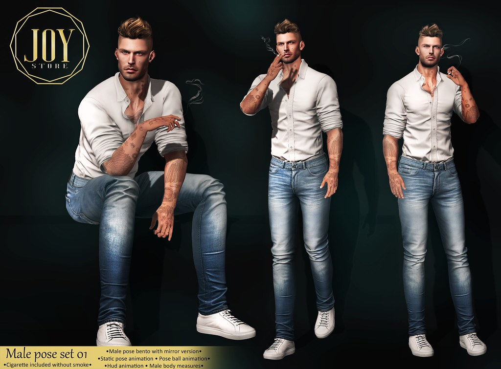 JOY – Male pose set 01