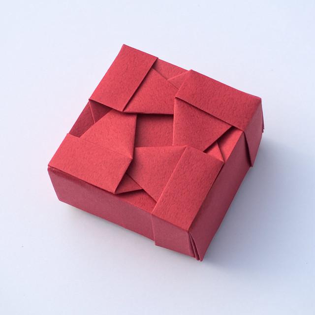 Box with Woven Triangles VI