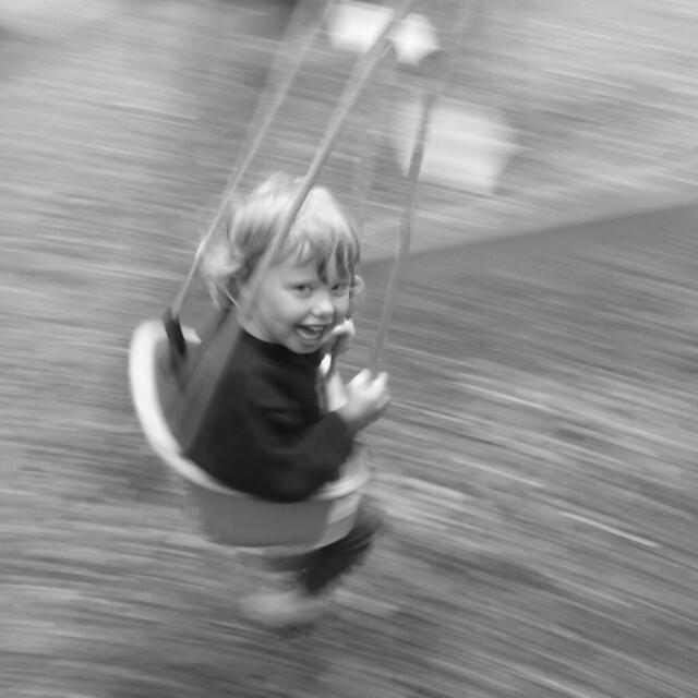 Simple joys on a swing