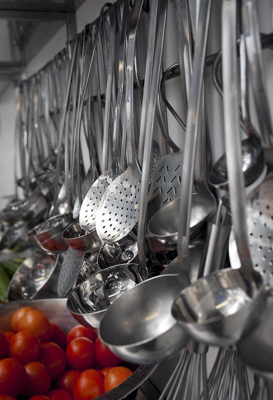 Kitchen Utensils on Hanging Rack
