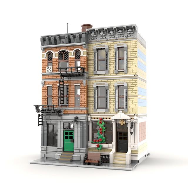 Lego MOC modular • New Block City Housing
