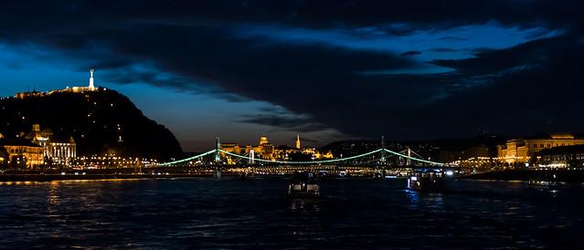 Night trip on the Danube