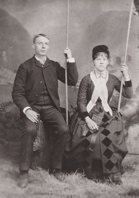 Allen and Carrie Miller Clippinger Young, Albumen Cabinet Card, Circa 1880
