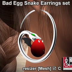 Bad Egg Snake Earrings set