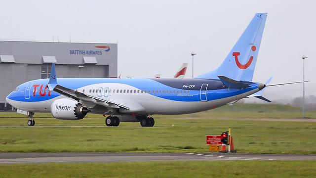 PH-TFP - TUI Nederland 737MAX @ Cardiff Airport 28/03/21