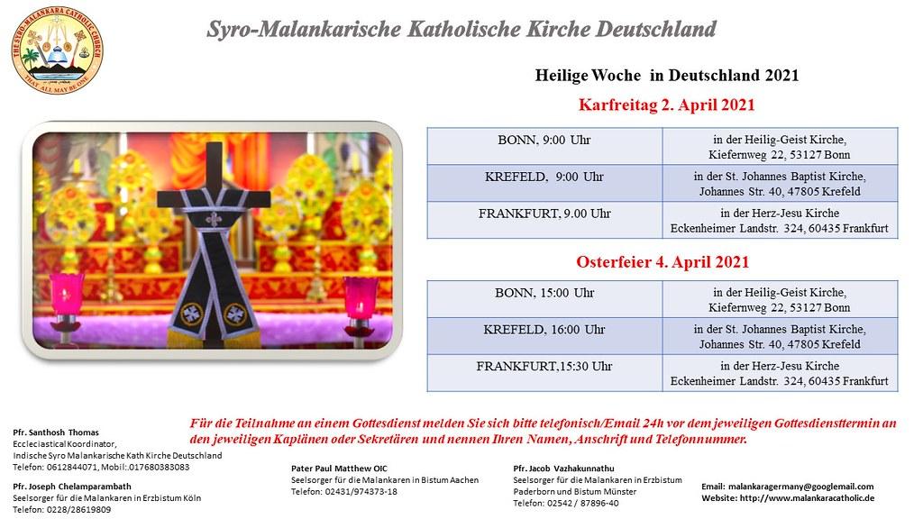 Heilige Woche in Deutschland 2021