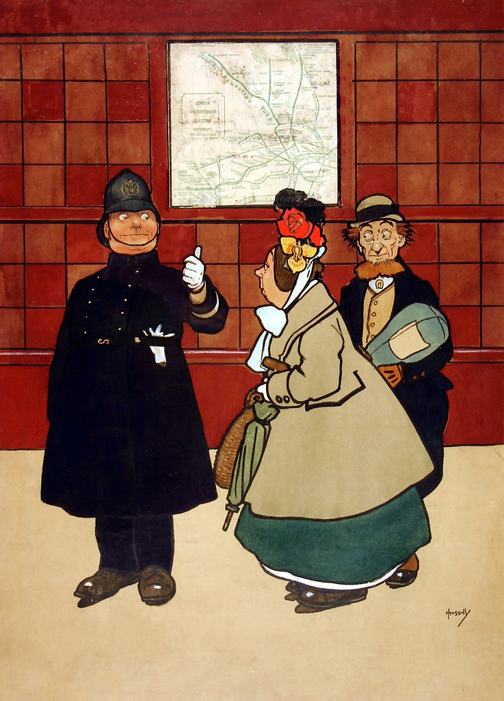 HASSALL, John. No need to ask a policeman, London Underground