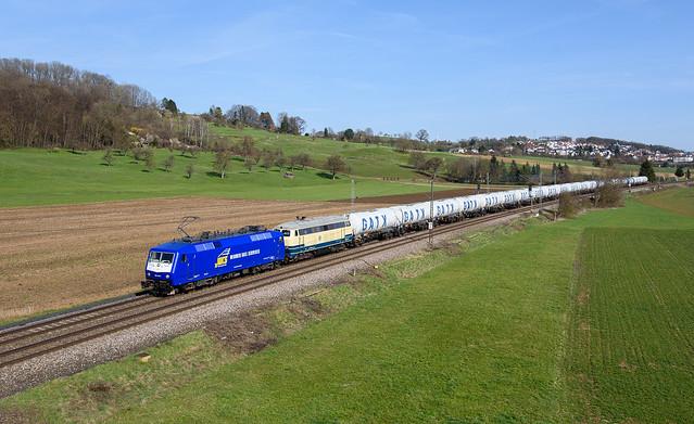 120 145 und 225 004 Widmer-Rail-Service(WRS)